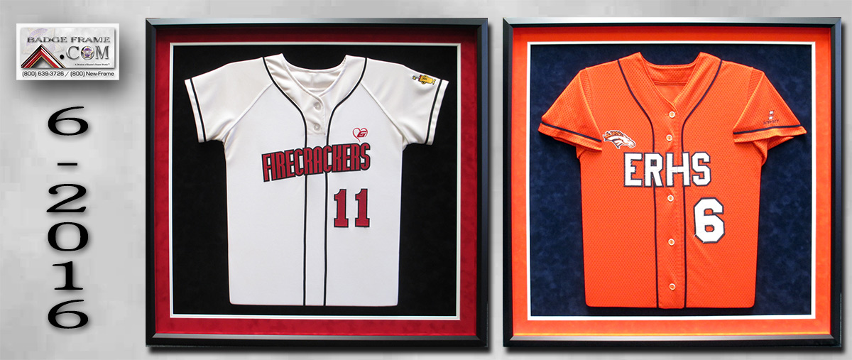 Jersey                                   Shadowboxes, Badge Frame, Sports
