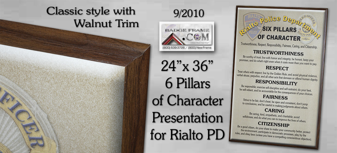 Rialto PD- 6 Pillars of         Character