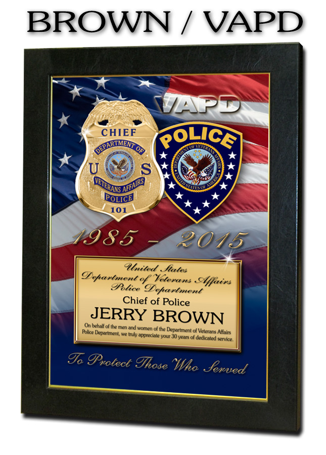 Jerry Brown /           Department of Veteran's Affairs PD