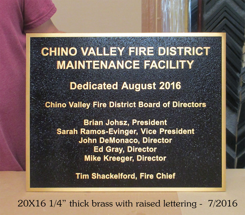 Chino Velley                             Fire Staion Sign from Badge Frame