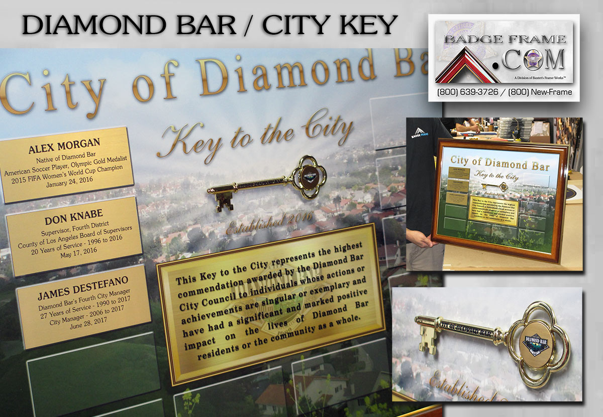 City of Diamond Bar Key Presentation from Badge Frame