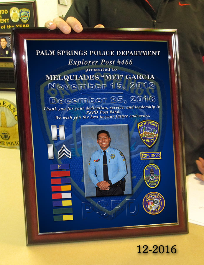Garcia - Palm Springs PD Explorer Presentation from Badge Frame 12-2106