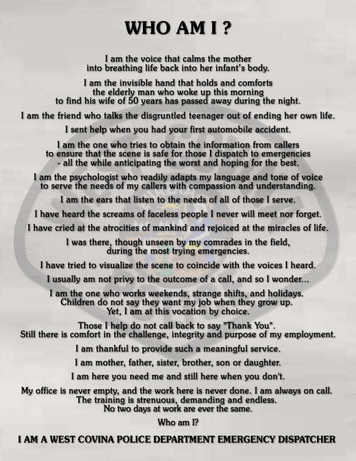 Who Am I ? Dispatchers                 Prayer