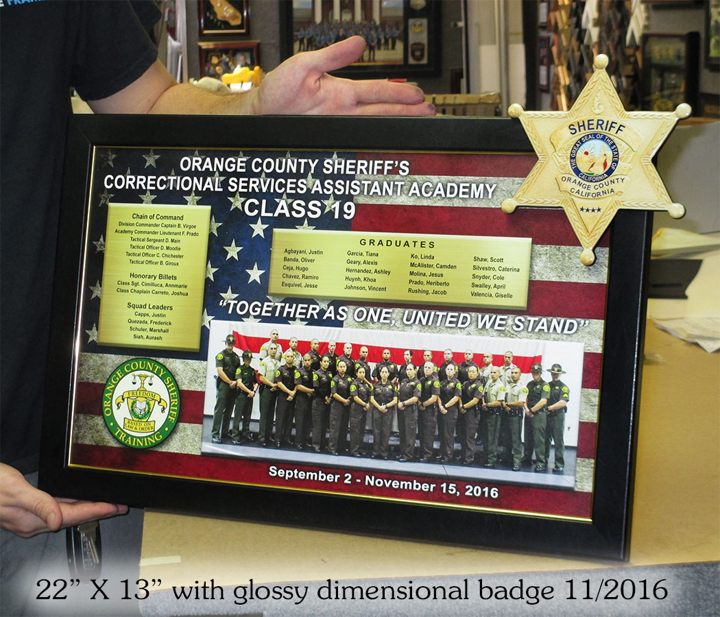 Orange County Sheriff's Academy           - Class 19 presentation from Badge Frame