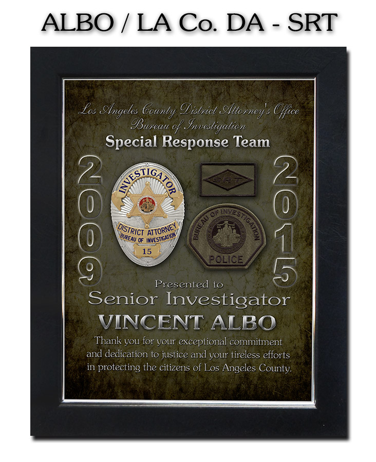 Albo - LA County           DA - SRT presentation from Badge Frame