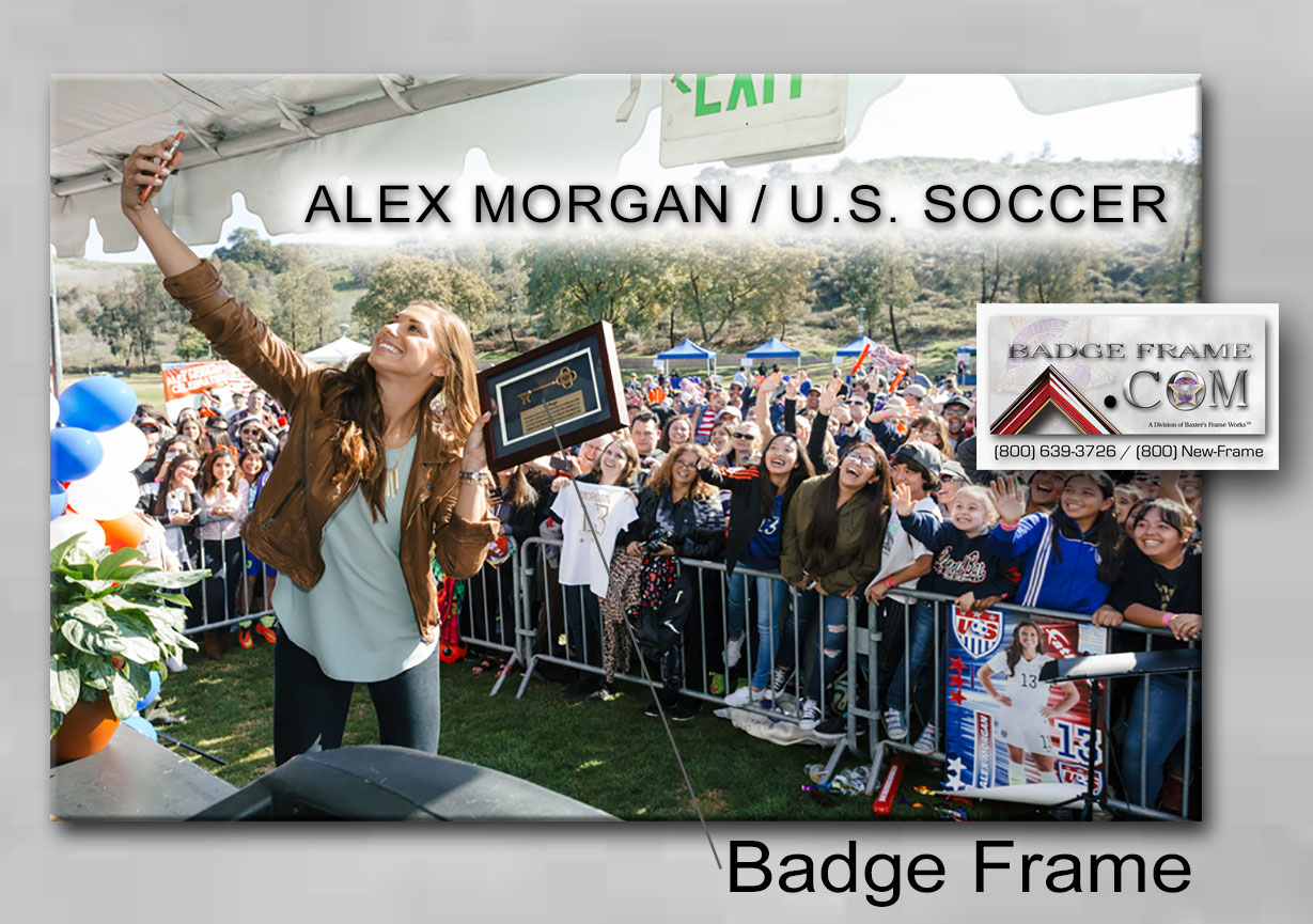 badge frame, alex morgan, us soccer