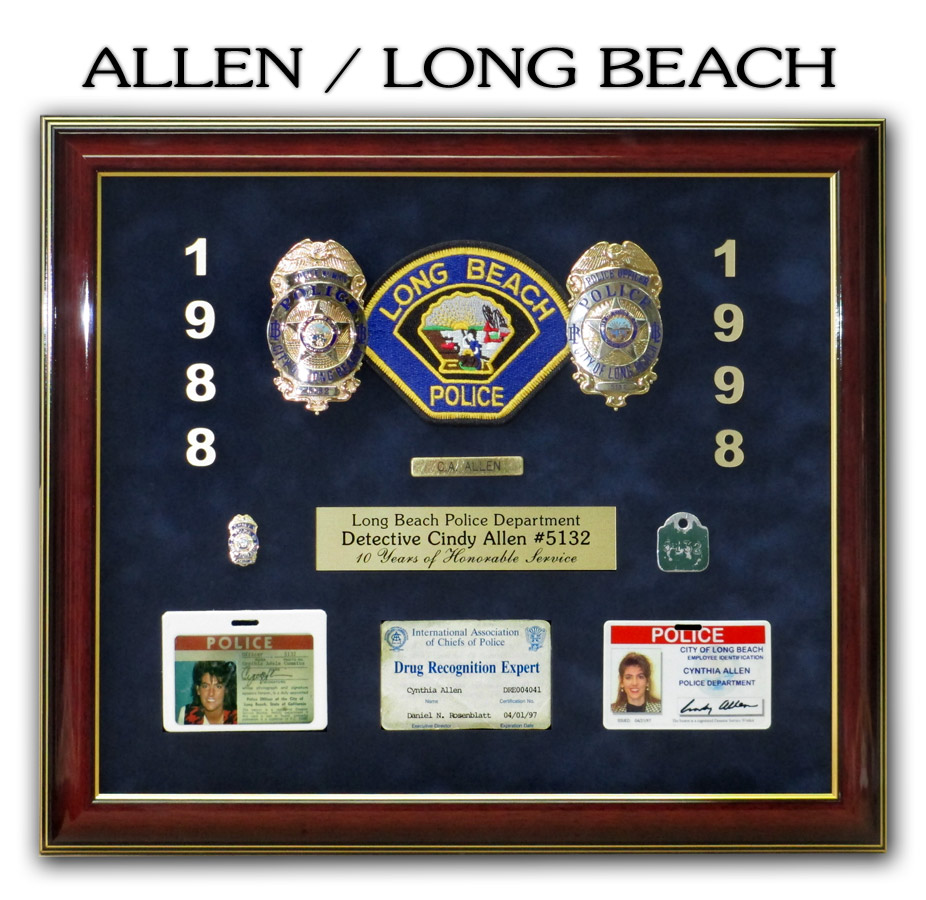 Allen - Long Beach PD Retirement Presentation from Badge Frame