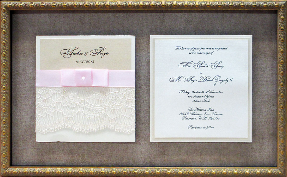 Framed                             Wedding Invite from Badge Frame