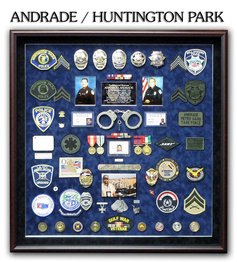 Andrade / Huntington Park PD - Professional Rescuer presentation from Badge Frame