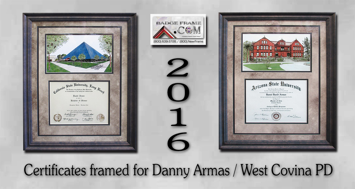 Danny Armas                             / West Covina PD / Certificates