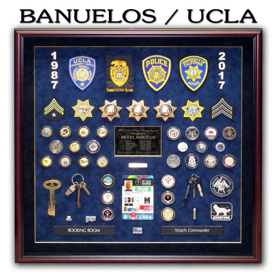 UCLA PD Retirement Presentation from Badge Frame