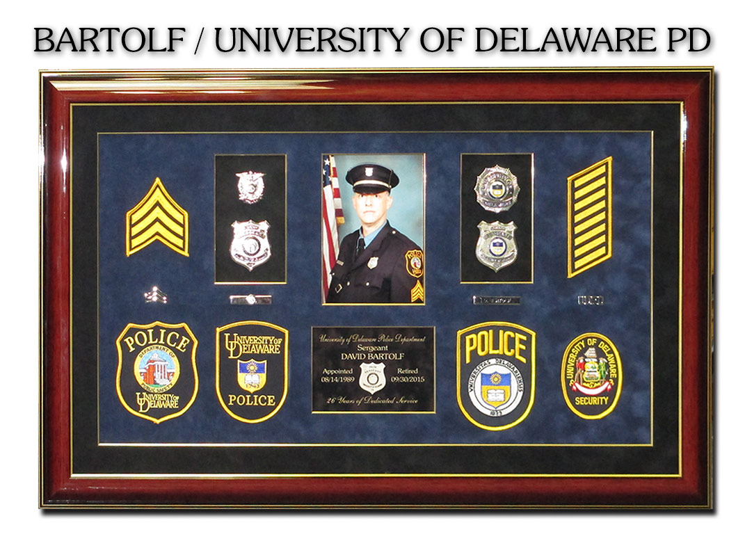 Bartolf /                             University of Delaware - Badge Frame                             Shadowbox