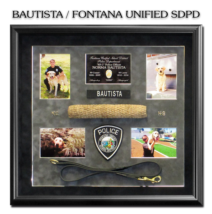 Bautista -                             Fontana mUNified School District PD - K-9                             Presentation from Badge Frame