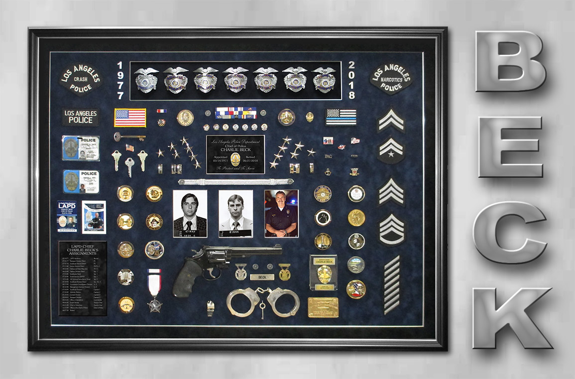 Beck - LAPD Retirement Shadowbox from Badge Frame
