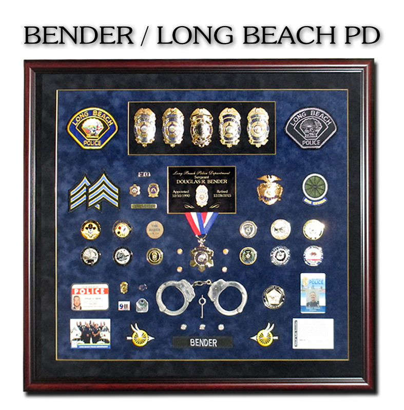 Bender - Long Beach PD             Shadowbox from Badge Frame