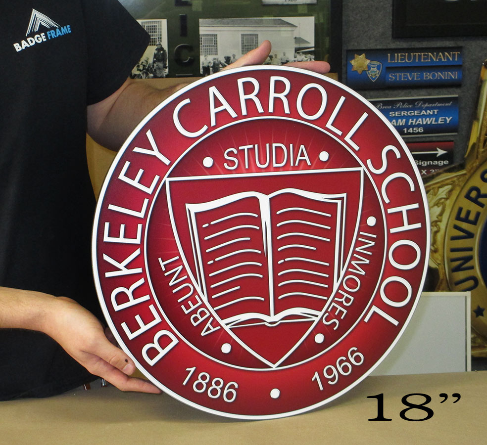 Berekley School Podium Seal from Badge Frame