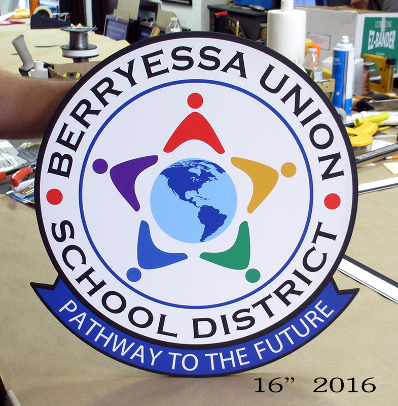 Breeyessa School District Emblem from Badge Frame