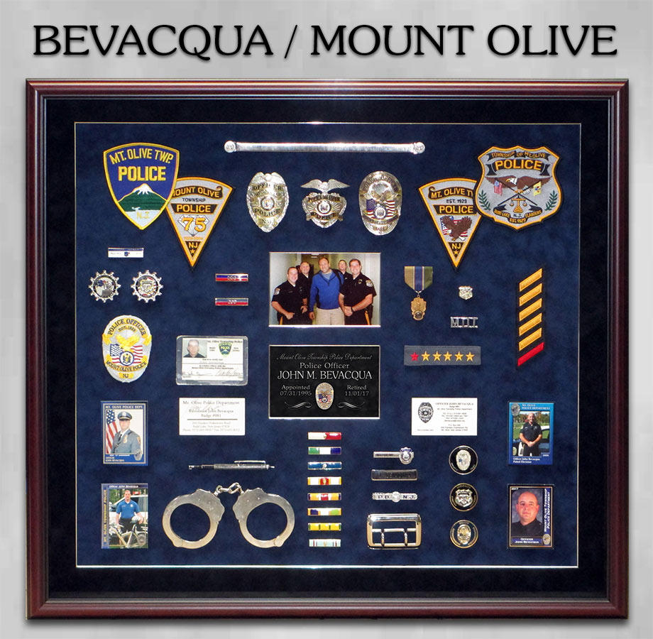 Bevacqua / Mount Olive PD Rertirement from Badge Frame