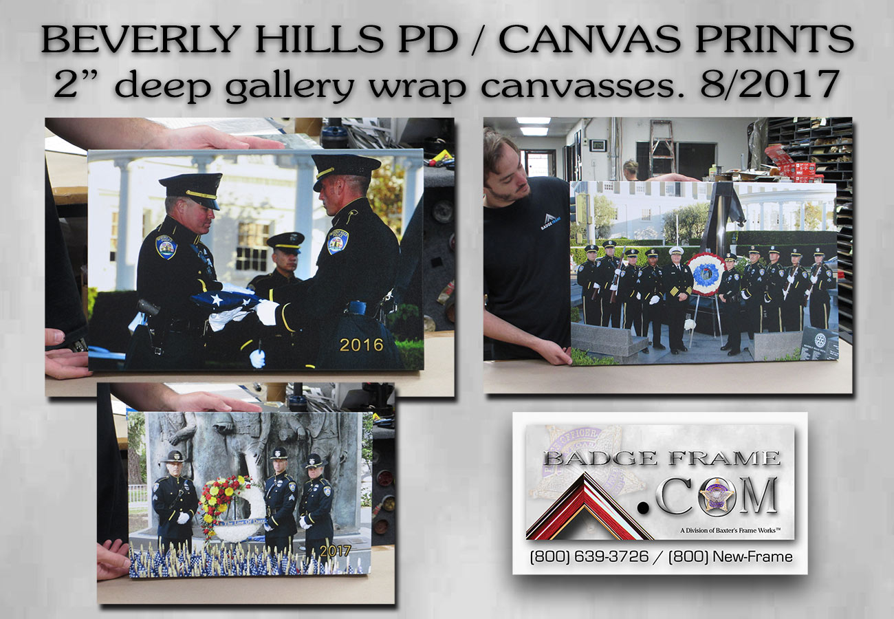 Beverly Hills PD / Canvas prints from Badge Frame