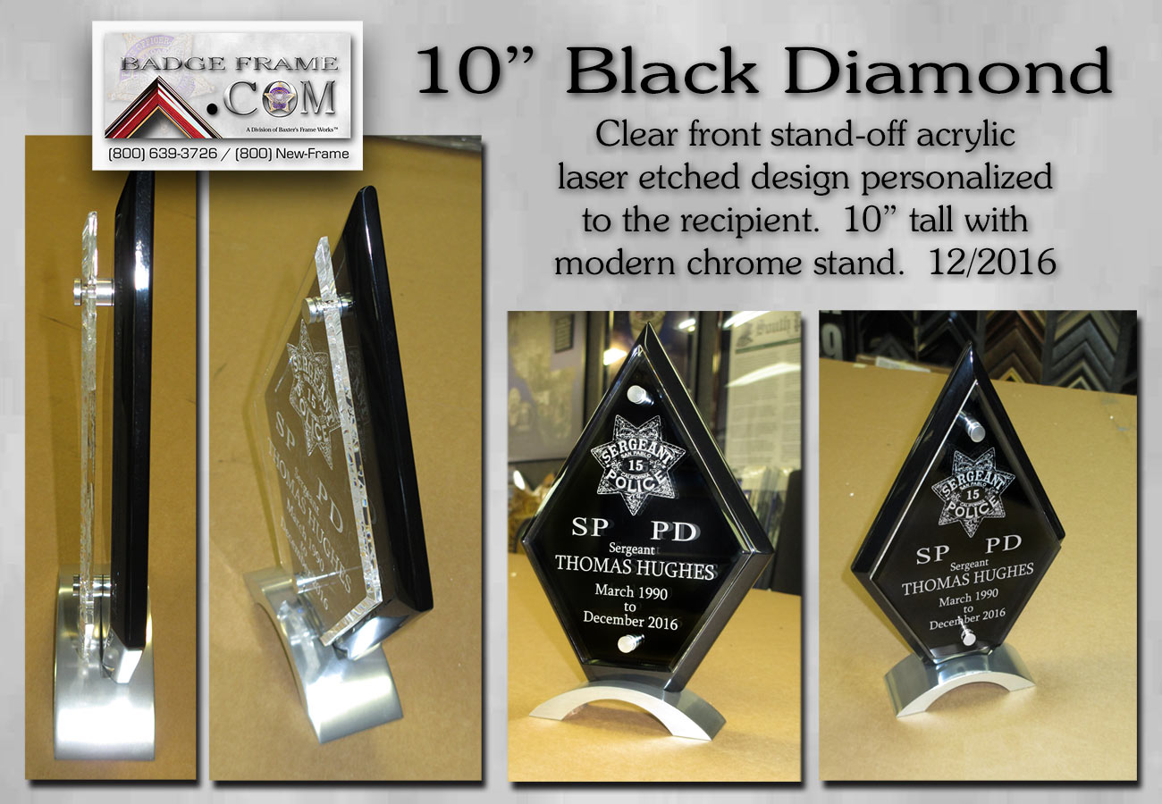 Black Diamond Acrylic award from Badge Frame