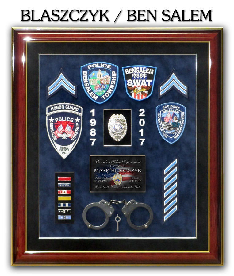 Blaszczyk Retirement Presentation for Ben Salem PD from Badge Frame.jpg