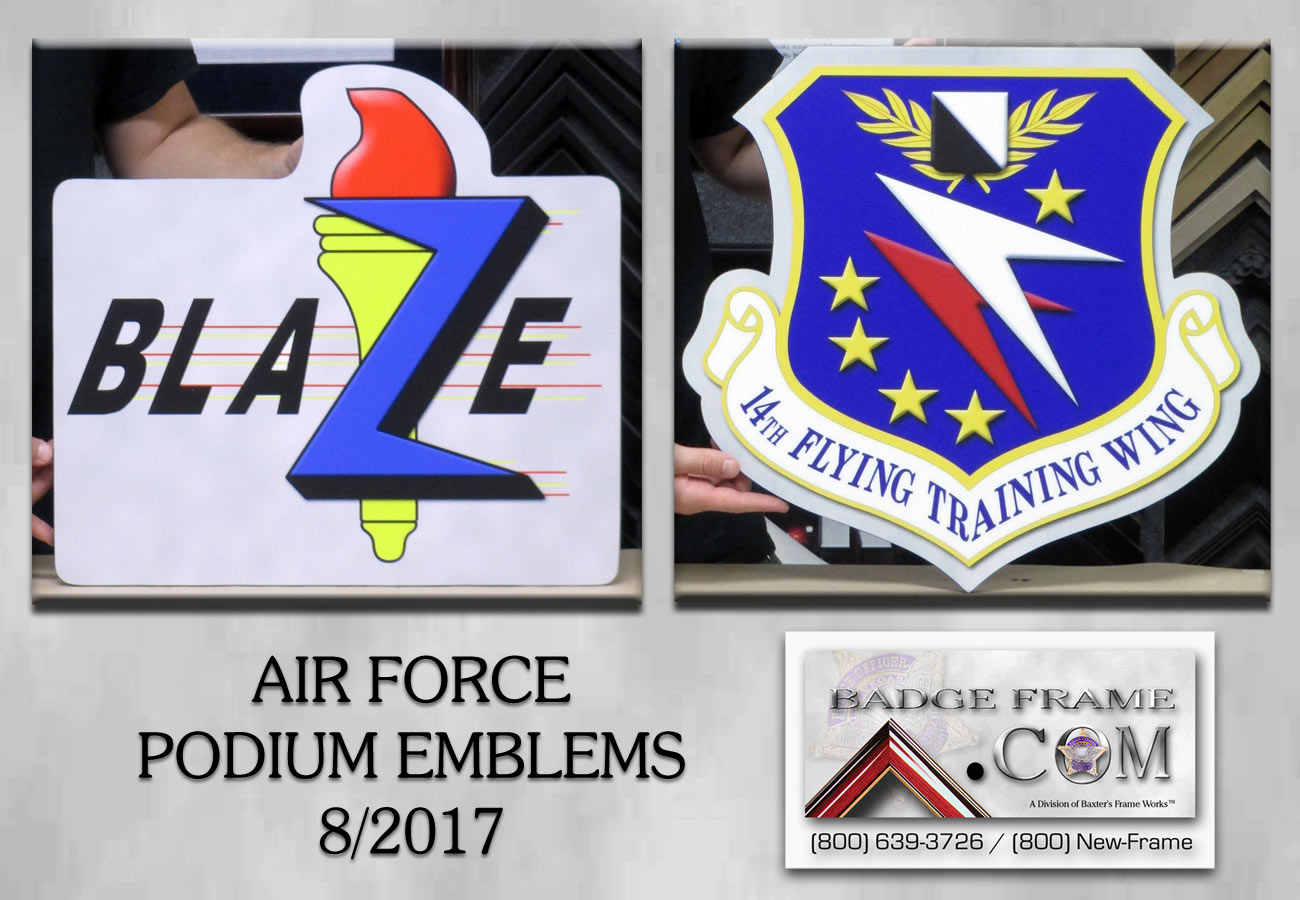 Air Force Podium Emblems