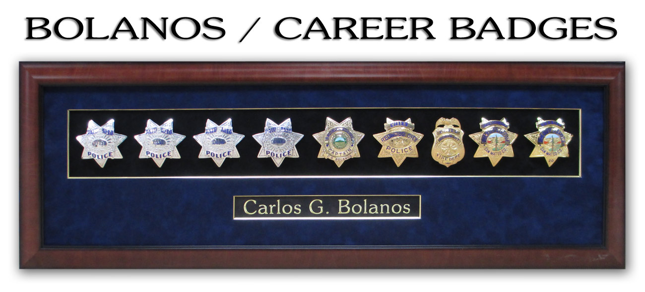 Bolanos Badge Presentation from Badge Frame