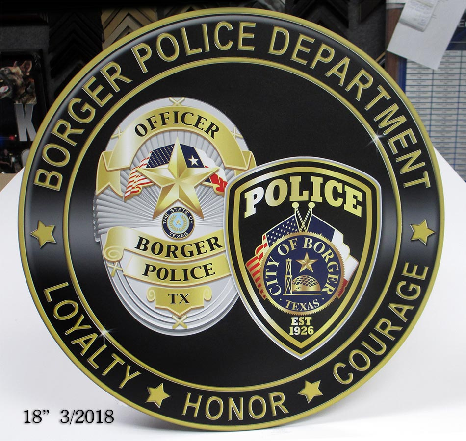 Broger PD / Podium Emblem from Badge Frame