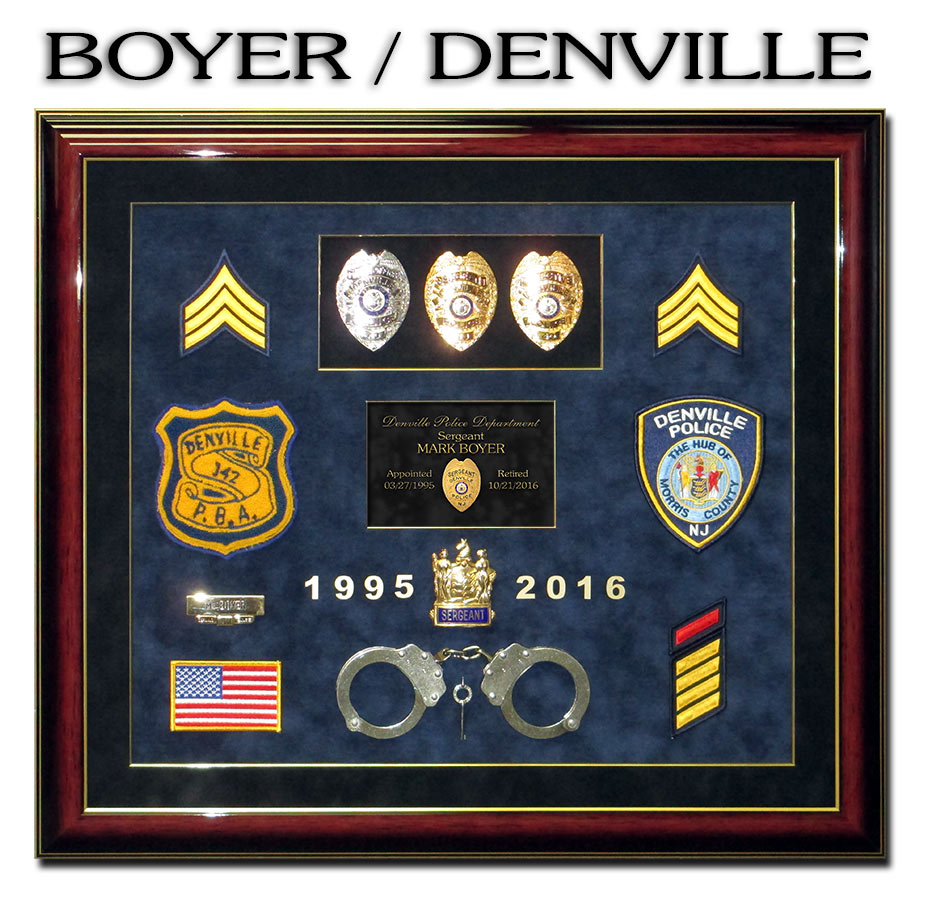 Boyer / Denville PD from Badge Frame