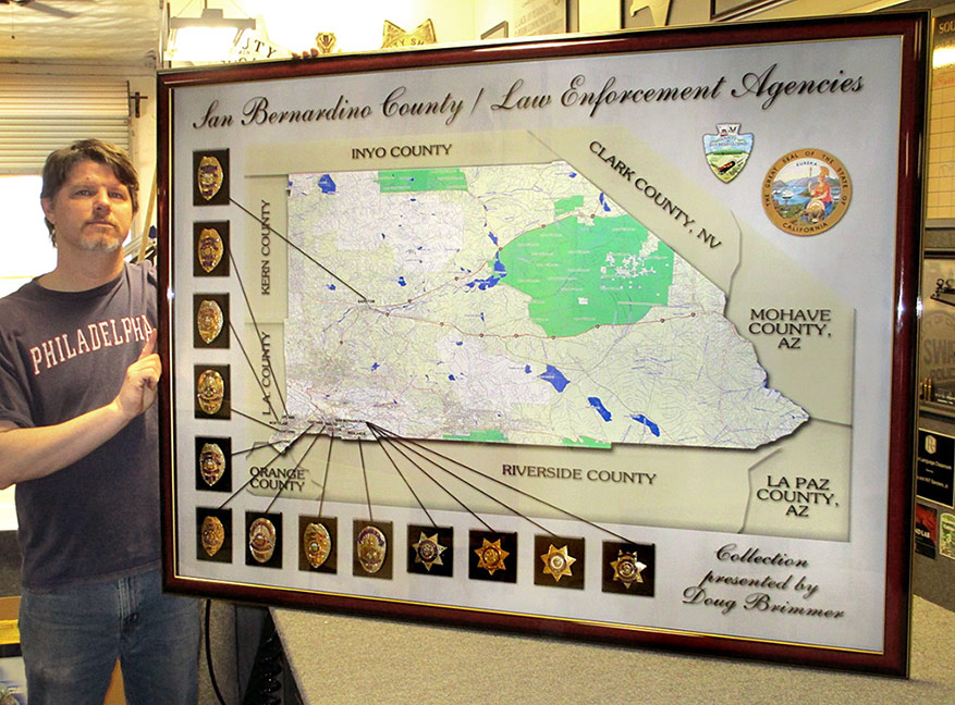 San                             Bernardino County - Law Enforcement Agencies                             Presentations with actual badges. Designed                             by Badge Frame