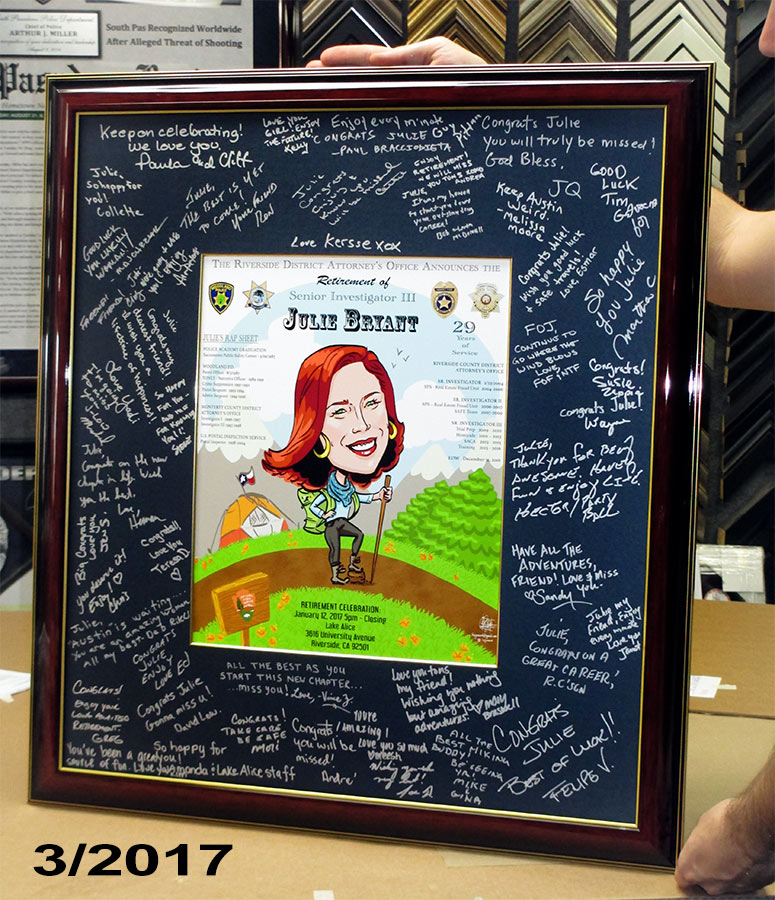 Bryant - Signed Mat Presentation from Badge Frame
