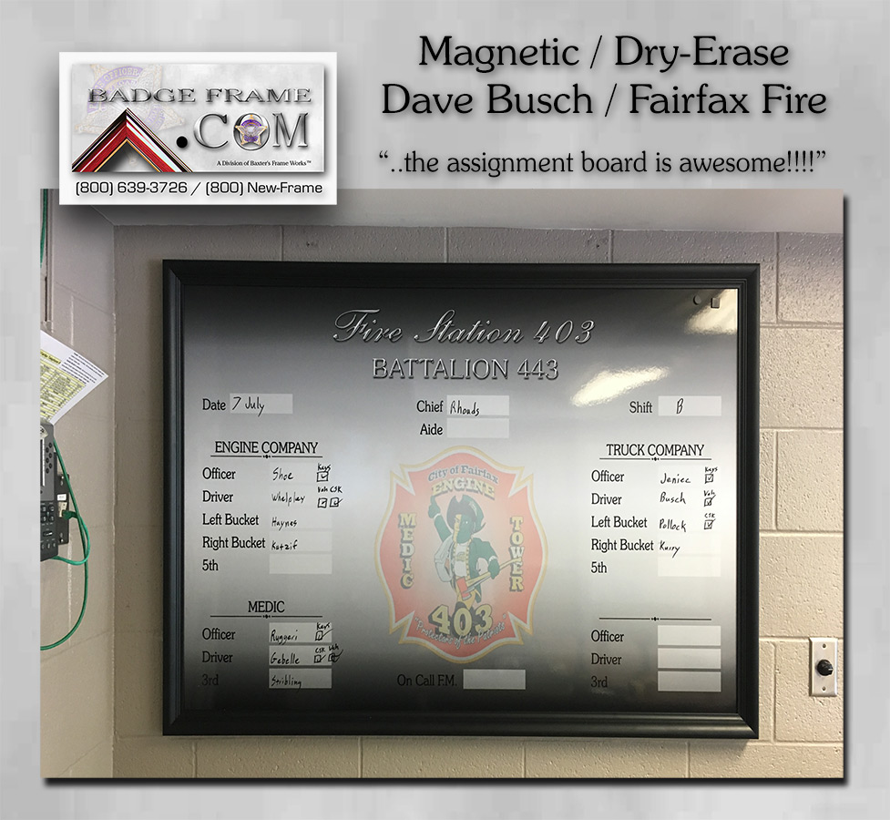 Fairfax FD - Magnetic Dry-Erase Board
