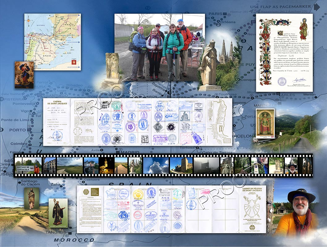 Camino de Santiago collage from Badge Frame