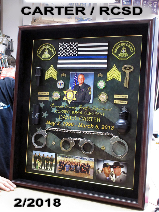 Carter / Riverside County Sheriff Retirement Presentation from Badge Frame