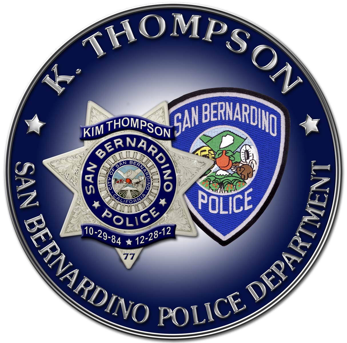 Sab Bernardino PD - Kim Thompson Seal