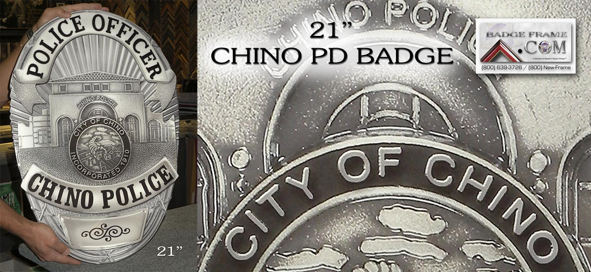 Chino PD Badge