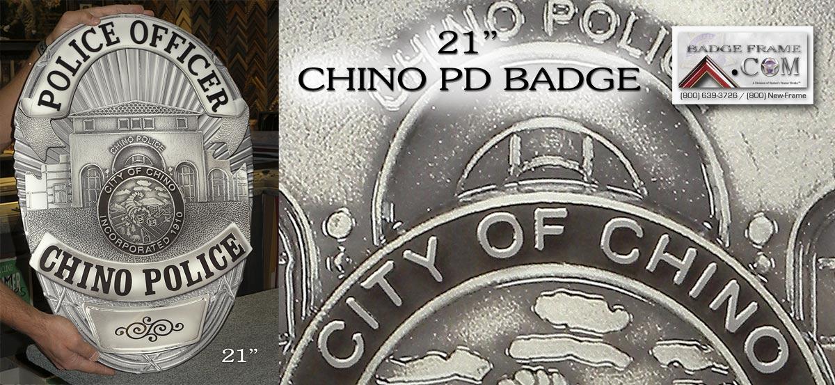 Chino PD Badge