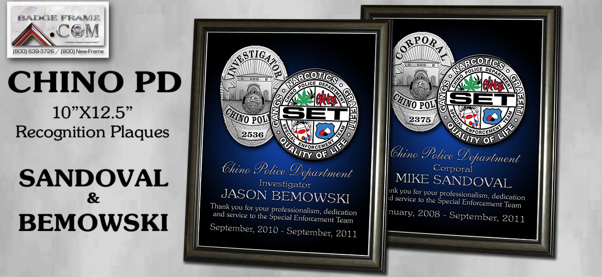 Chino PD - Recognition Plqaues