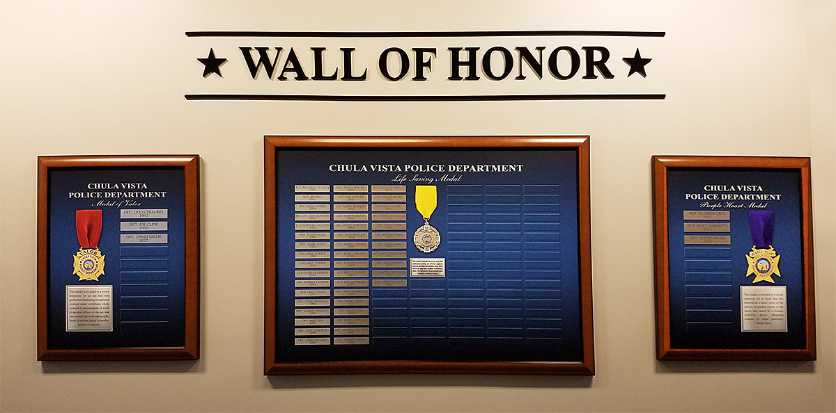 Chula Vista PD - Wall of Honor