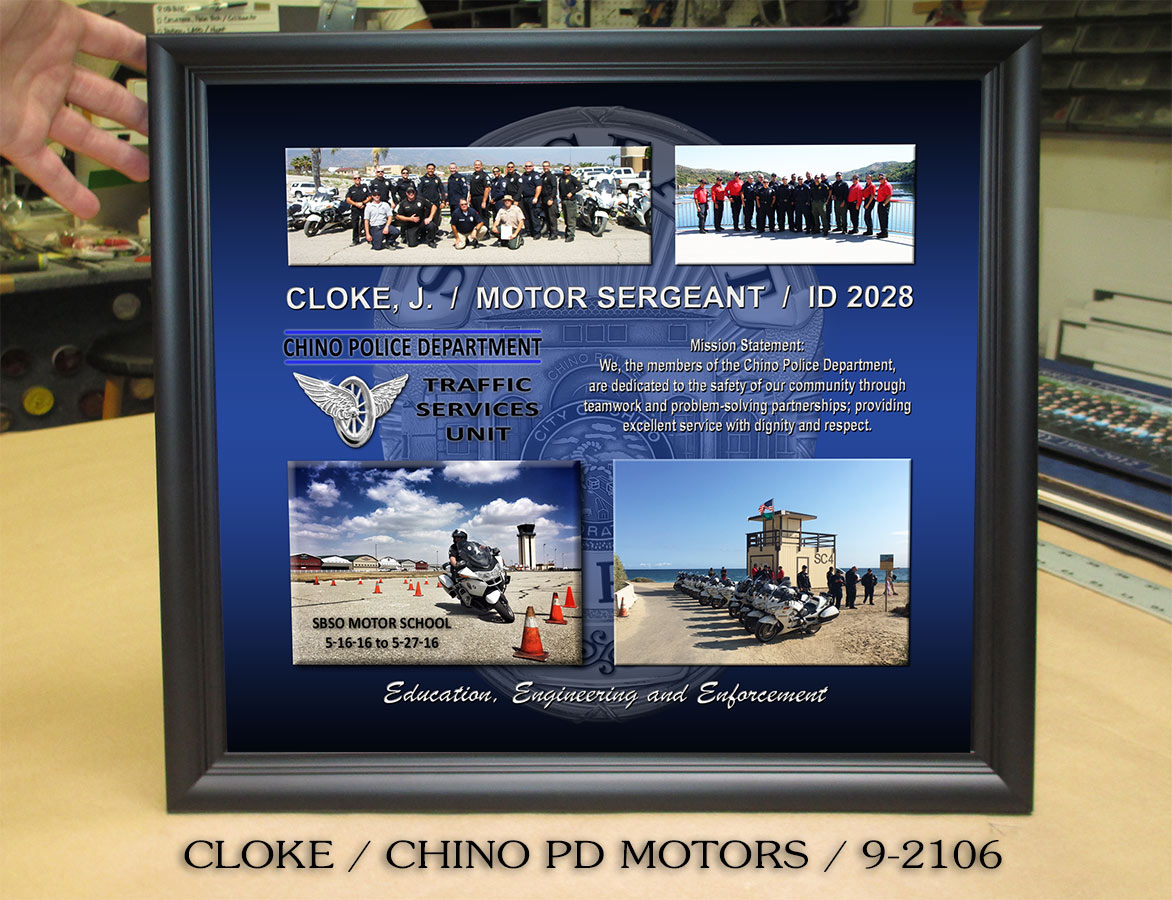 Badge Frame - Jason Cloke - Chino PD - Motors Sergeant Presentation