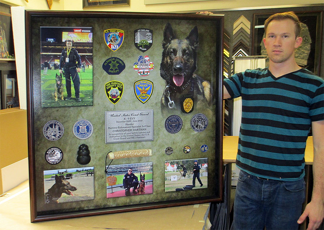 U.S. Coast                             Guard K-9 Presentation from Badge Frame