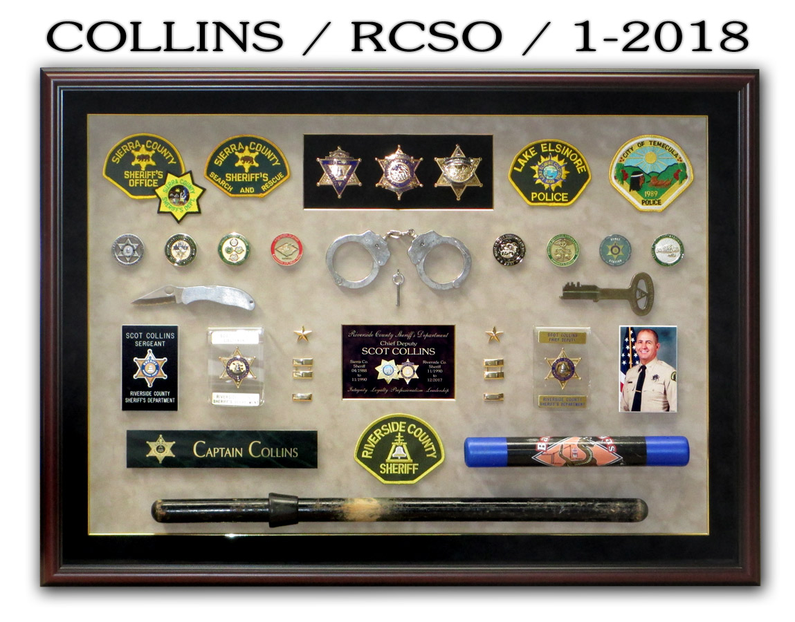 Collins / RCSO Retirement Presentation fom Badge Frame