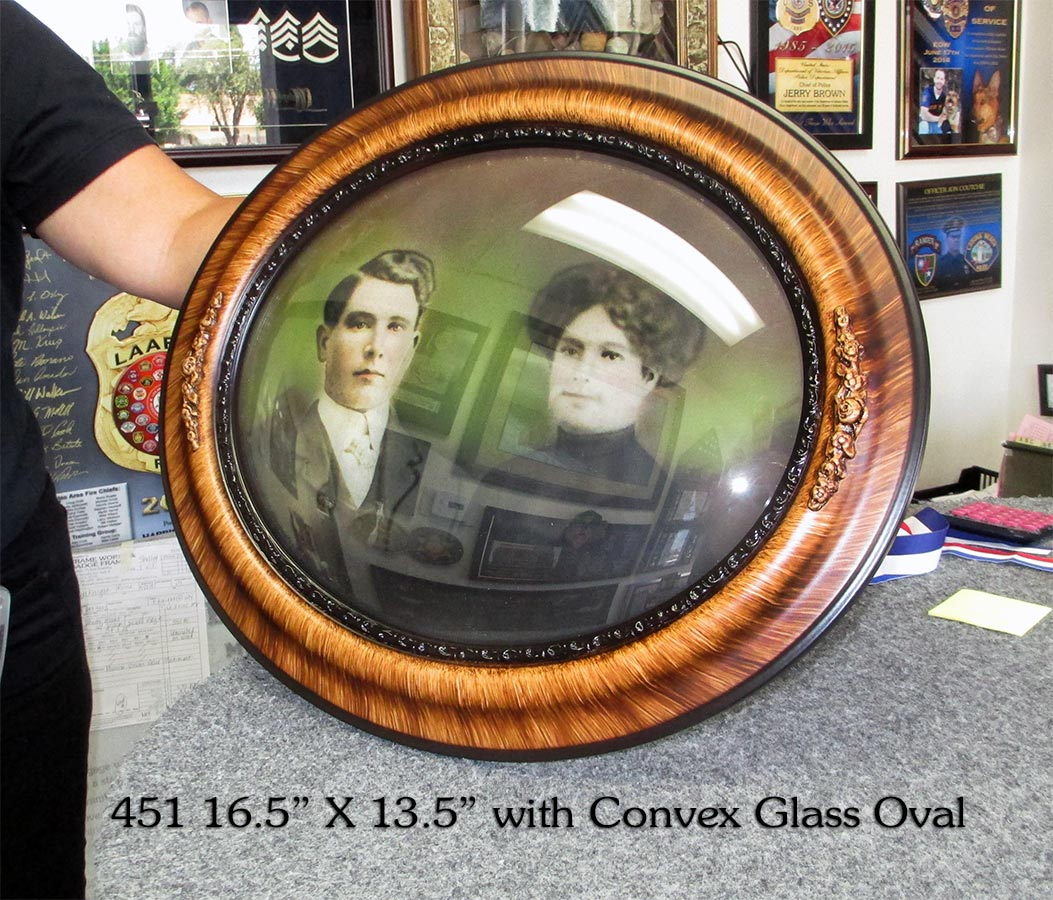 Convex Glass and custom oval frame