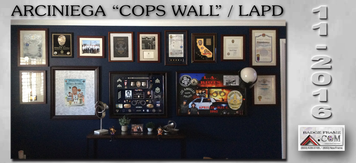 Richard Arciniega - LAPD           Memoribilia from Badge Frame