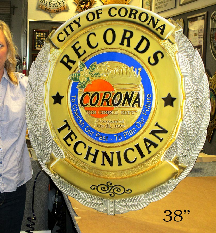 Corona Records - Oversize Badge