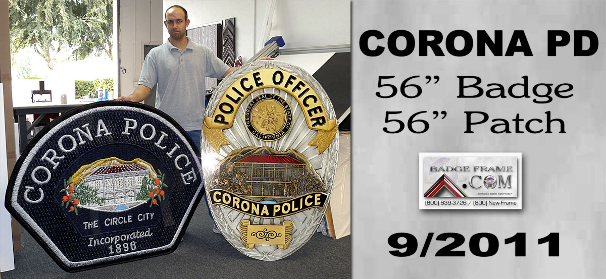 Corona PD - Oversized badge and patch