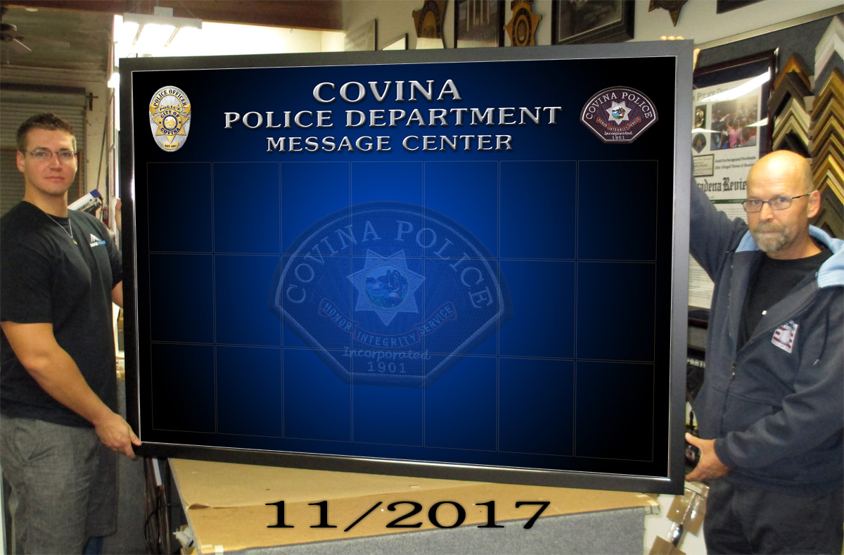 Covina PD - Magnetic Message Board 11/2017