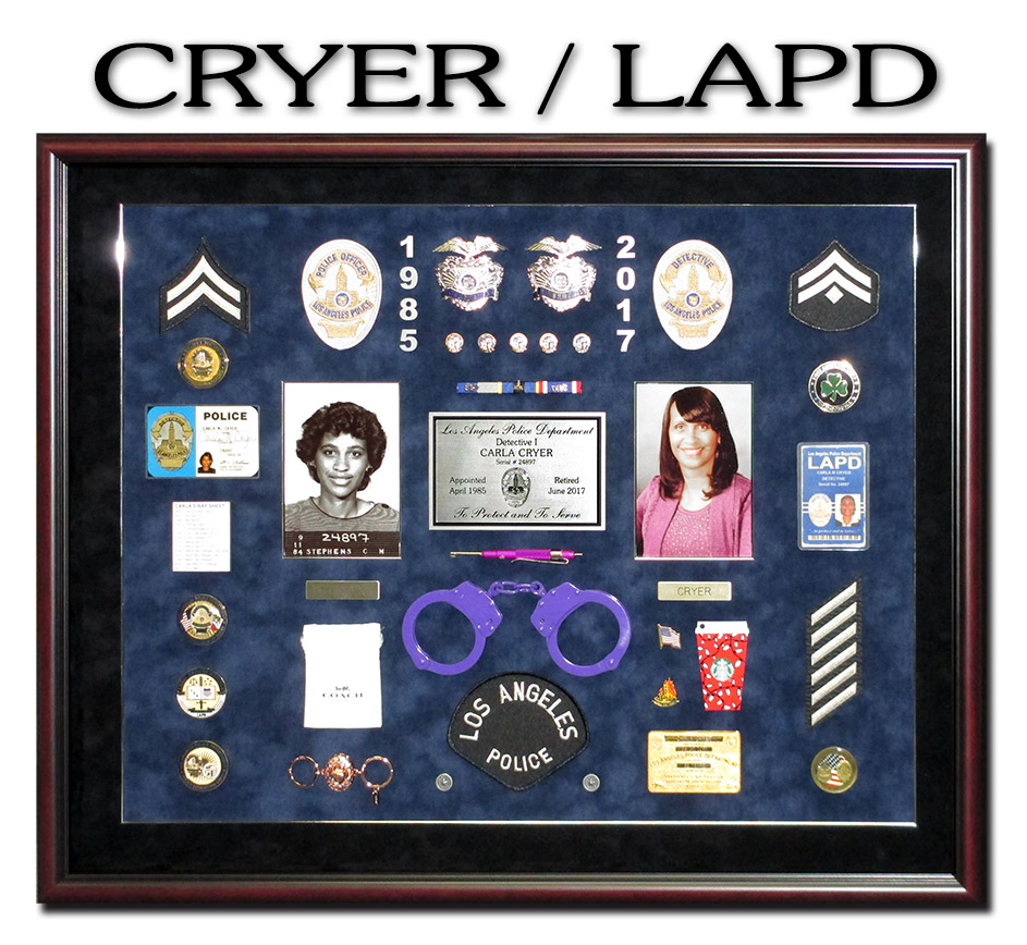 LAPD Police           Shadowbox for Cryer from Badsge Frame