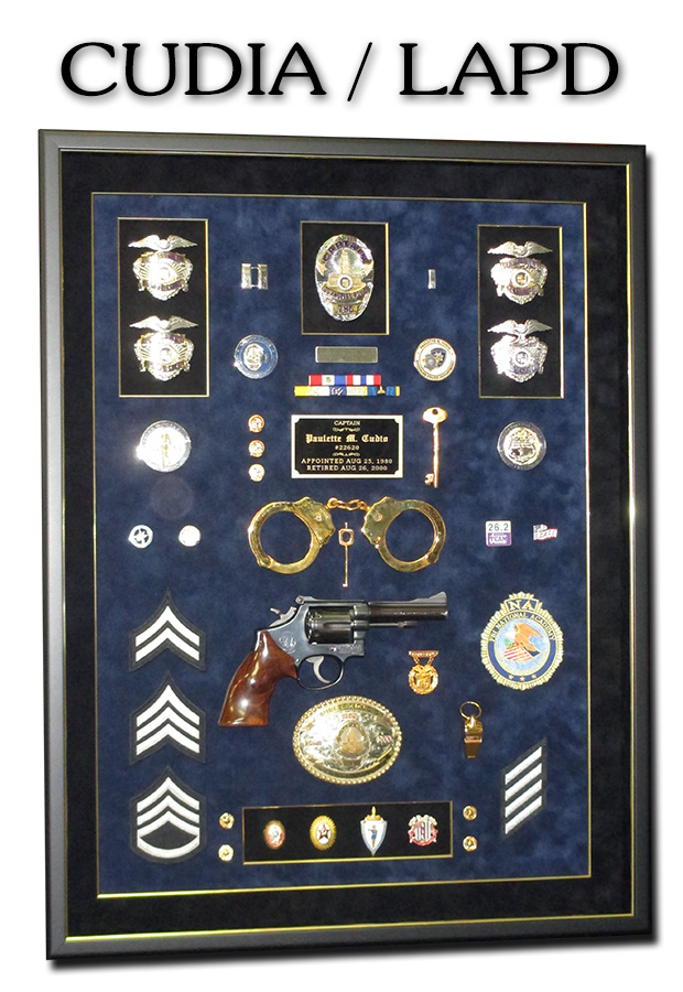 Cudia - LAPD Police Retirement             Presentation from Badge Frame