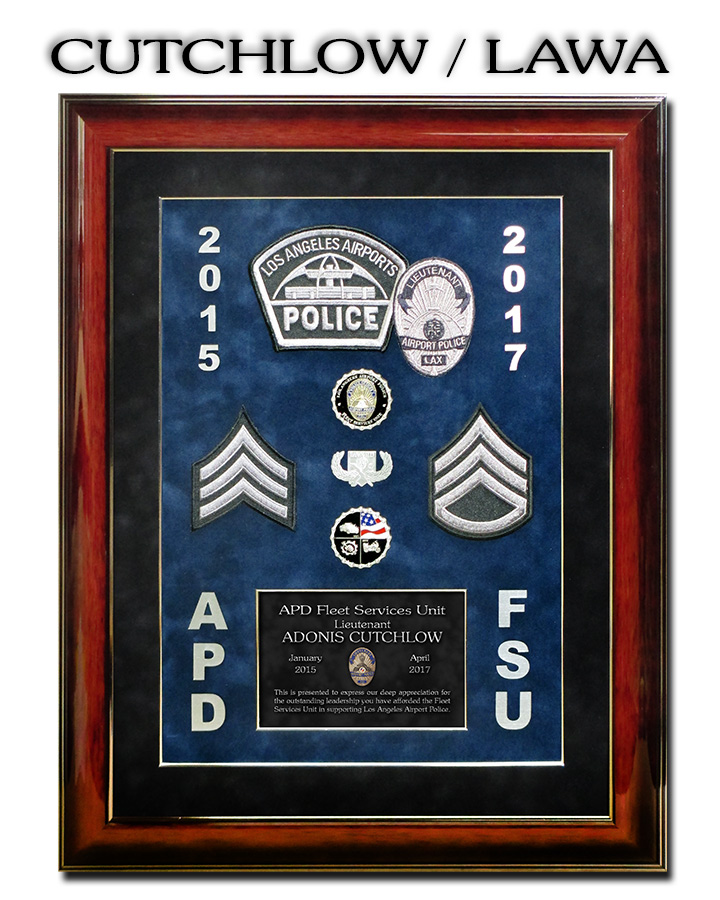 Cutchlow Recognition Plaque  from Badge Frame for LAWA